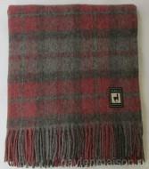 Плед натуральный 170×210 из шерсти альпака и мериноса Red